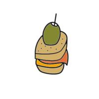 Baccalà mantecato su crostini di polenta